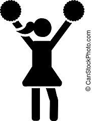 Cheerleader pictogram