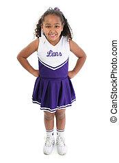 cheerleader - Adorable five year old African American Girl...