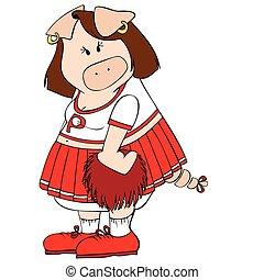 Cheerleader Pig.