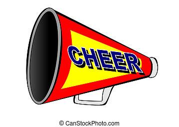 cheerleader, porte voix