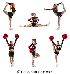 cheerleader, pose