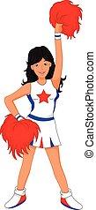 cheerleader, ragazza