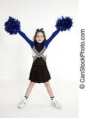 Cheerleader - Model Release 378 Nine year old girl dressed...