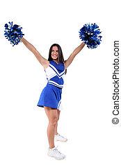 Cheerleader Teen - Full body cheerleader with braces over...