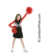 Cheerleader - Ten year old caucasian girl dressed as...