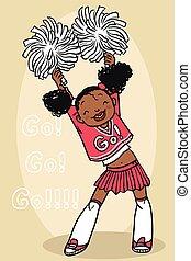 Cheerleader / Cheerleader Vector / Cheerleader Illustration...