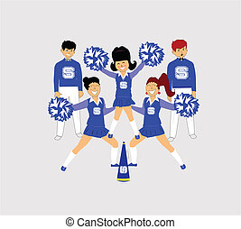 cheerleaders in a popular position
