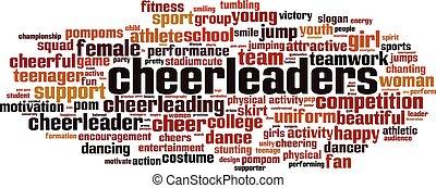 Cheerleaders word cloud