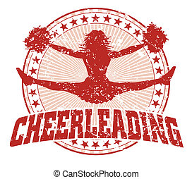 cheerleading, disegno, -, vendemmia