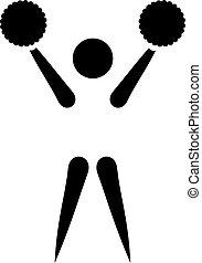 cheerleading, pictogram