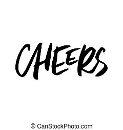 Cheers Christmas Lettering - Cheers Christmas calligraphy...