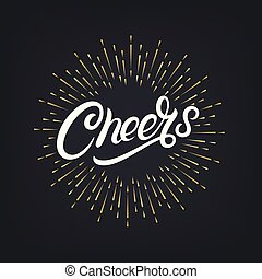 Cheers hand written lettering
