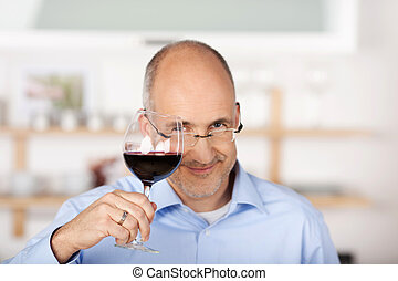 Cheers - Portrait of happy smiling cheerful businessman with...