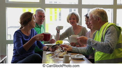 Cheers to a Great Day! - A group of five mature adults ...