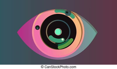 """""""Cheery abstract eye in the grey background"""" - """"3d rendering..."""