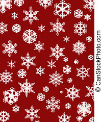 Cheery Flakes - white snowflake design on a cheery Christmas...