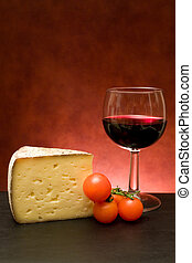 Cheese And Glass With Wine