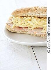 cheese and ham sub
