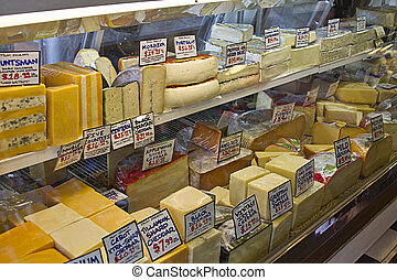 Cheese Assortment at Pike Place Public Market
