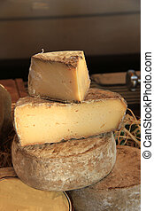 French cheese at a Provencal market in France