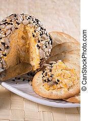 Cheese Ball & Crackers