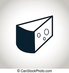 Cheese black icon - cheese black simple icon. Isolated on a ...