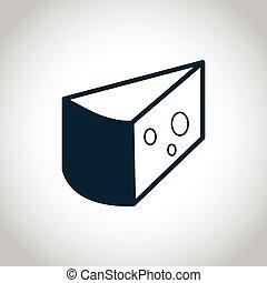 Cheese black icon