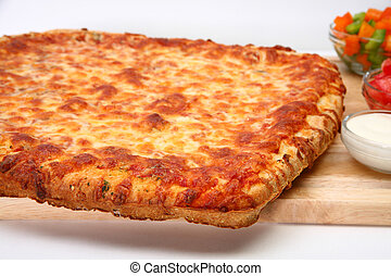 Cheese Bread Pizza - Freadh baked cheese bread pizza and...
