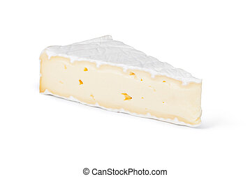cheese brie on a white background