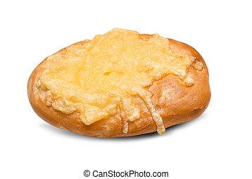 Cheese bun isolated on white