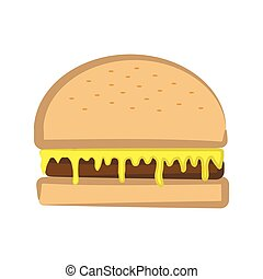 Cheese Burger Vector Illustration