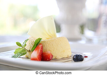 cheese cake with fruits