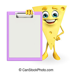 Cheese Character with notepad