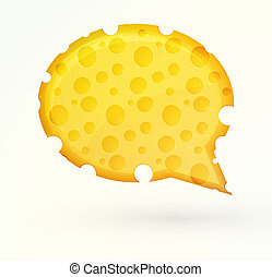 Cheese chat bubble