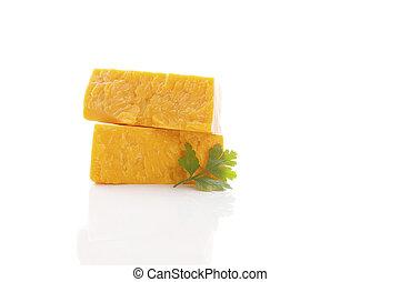 cheese., cheddarkäse, köstlich