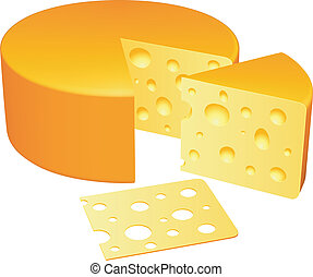 Collection of cheese pieces.