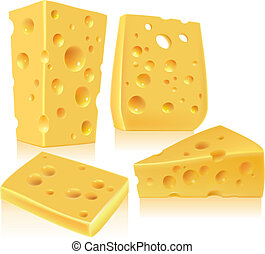 Cheese. Contains transparent objects. EPS10