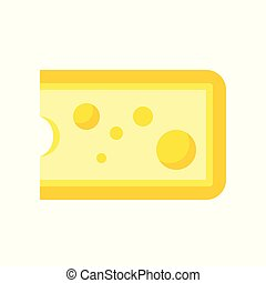 Cheese, dairy product concept flat icon