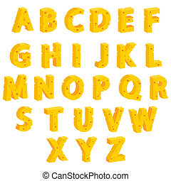 Cheese decorative letters