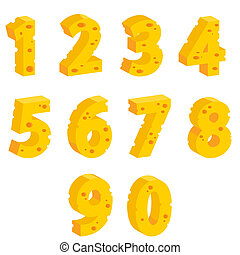 Cheese decorative numbers