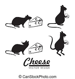 cheese design  over  white background vector illustration