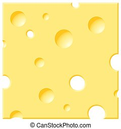 Cheese - Rasterized vector drawing of a slice of cheese.