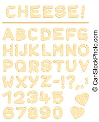 Cheese Font Letters