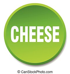 cheese green round flat isolated push button