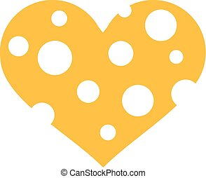 Cheese heart with wholes