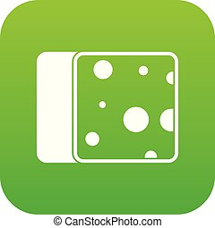 Cheese icon digital green