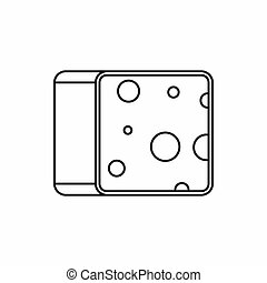 Cheese icon, outline style
