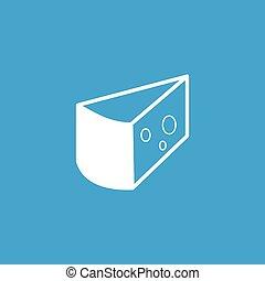 Cheese icon, white