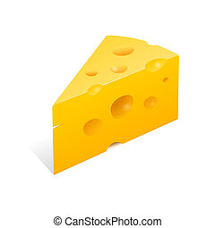 High Definition vector illustration of yellow gourmet cheese
