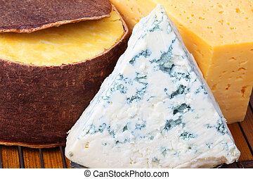 Cheese in the range of close-up